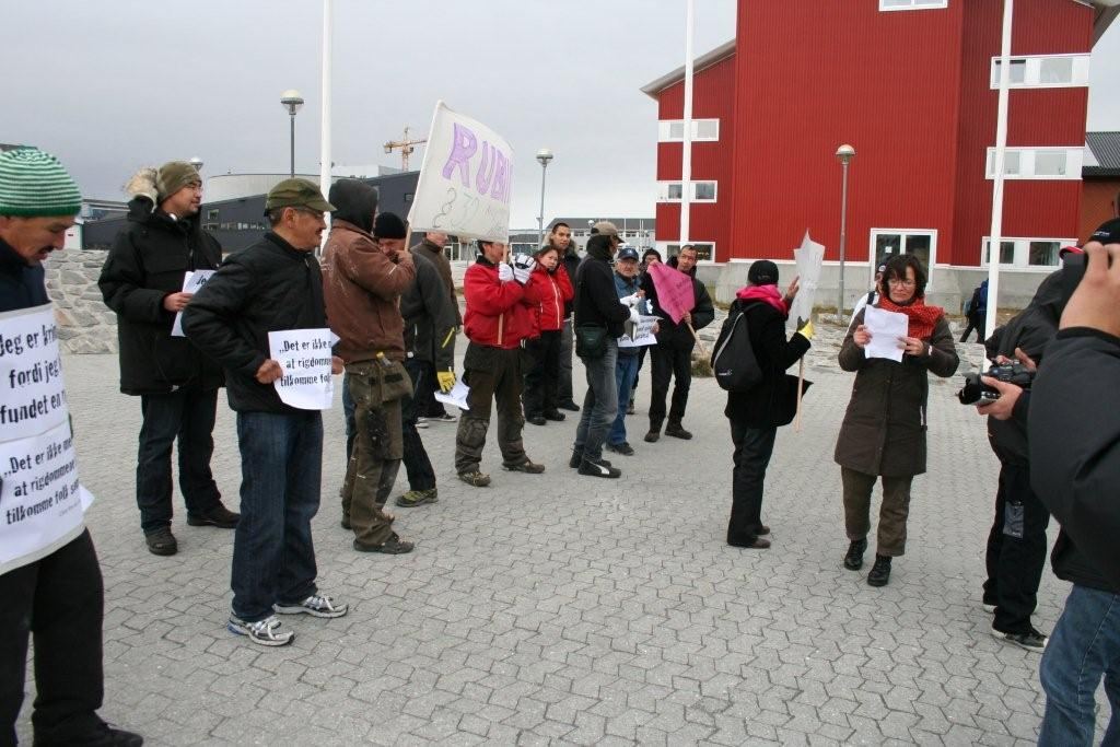 Ruby Rights Protest in Nuuk 2008