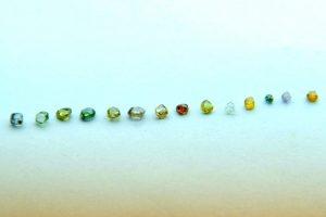 A range of alluvial coloured diamonds from eastern Democratic Republic of Congo