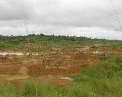Artisanal diamond fields in Kono, Sierra Leone.