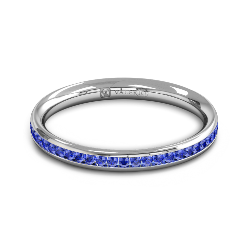 Blue Sapphire half Fairtrade Gold Eternity Ring