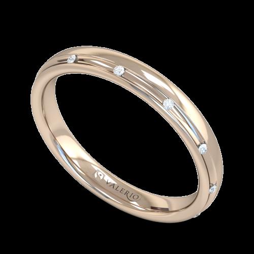 Channel Set Diamond Fairtrade Rose Gold Wedding Ring