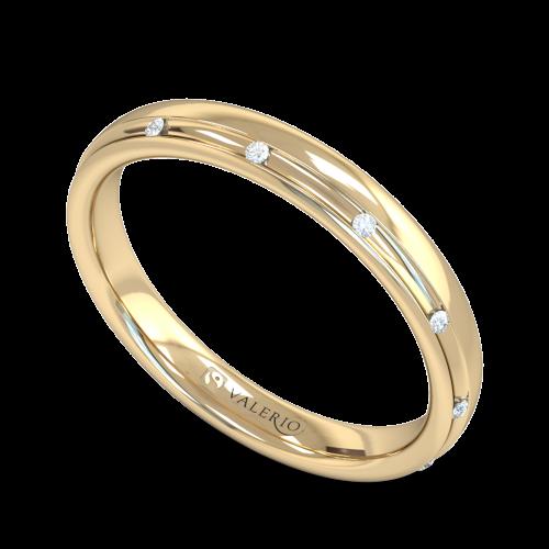 Channel Set Diamond Fairtrade Yellow Gold Wedding Ring
