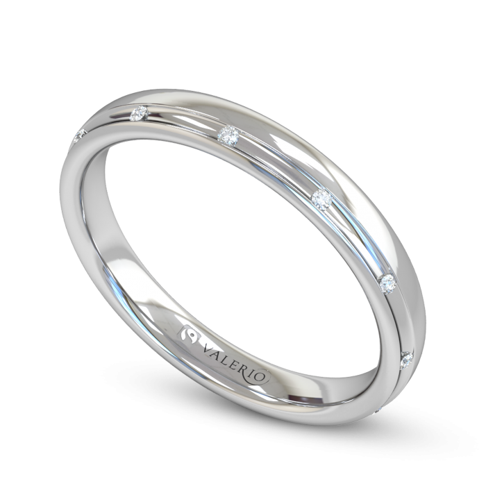 Channel Set Diamond Fairtrade White Gold Wedding Ring