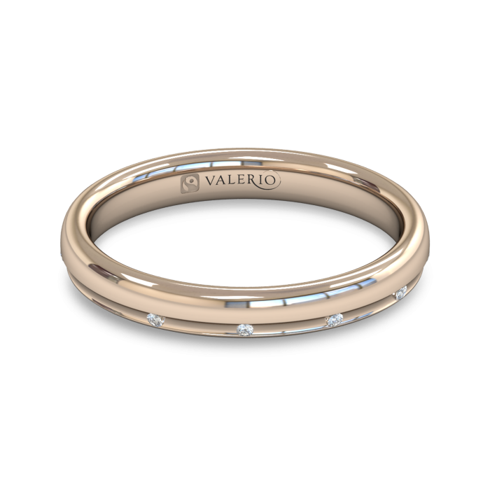 Channel Set Diamond Fairtrade Rose Gold Wedding Ring