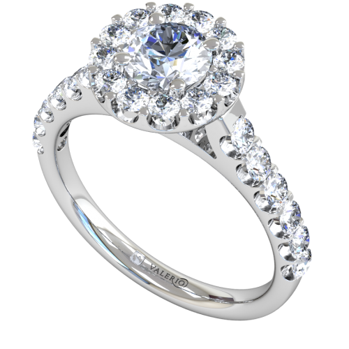Diamond Starburst Cluster Engagement Ring