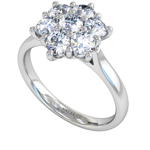 Diamond Starlight Cluster Engagement Ring