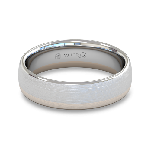 Diamond White and Rose Fairtrade Gold Wedding Ring top