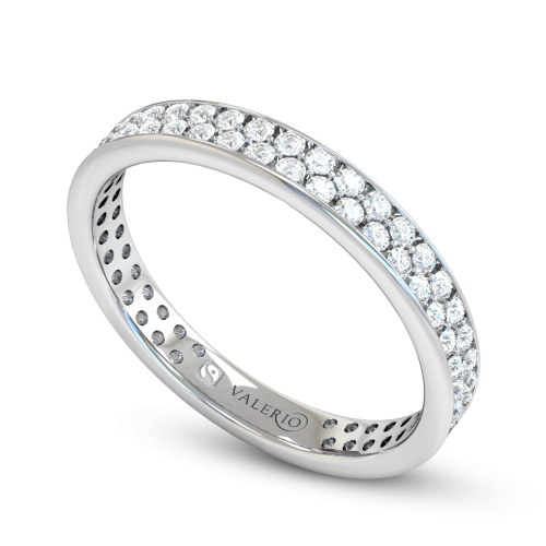 Grain set Diamond Fairtrade White Gold Eternity Ring