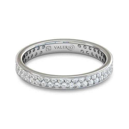 Grain set Diamond Fairtrade White Gold Eternity Ring top