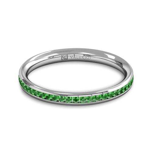 Emerald Fairtrade half Fairtrade Gold Eternity Ringtop