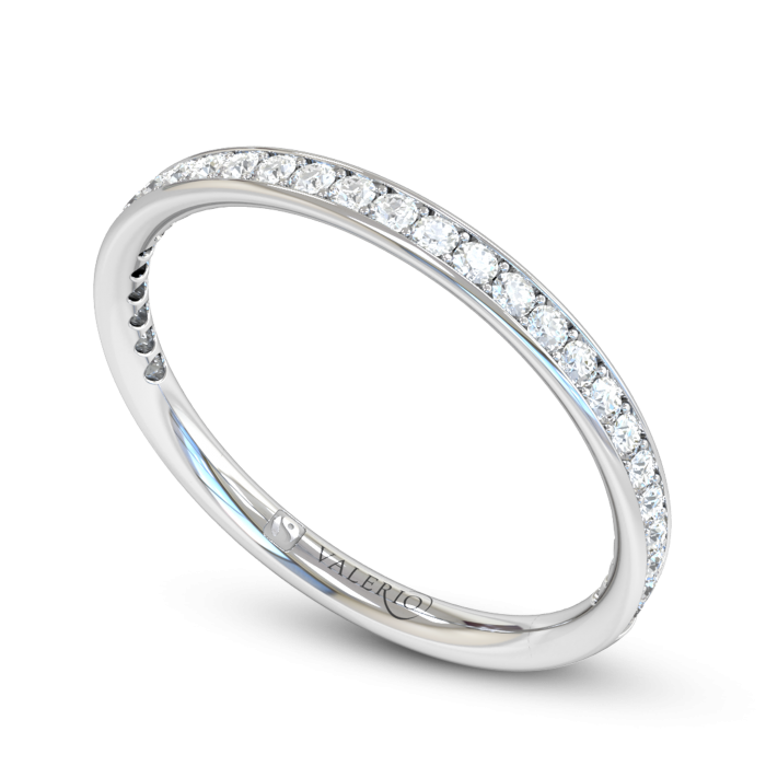 Grain Set Fairtrade White Gold Eternity Ring