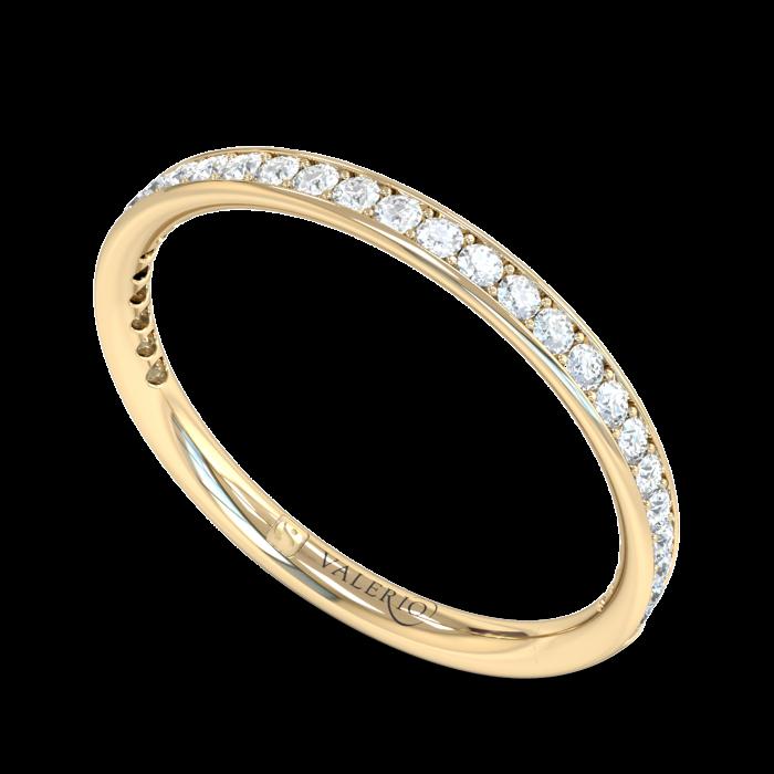 Grain Set Diamond Fairtrade Yellow Gold Eternity Ring