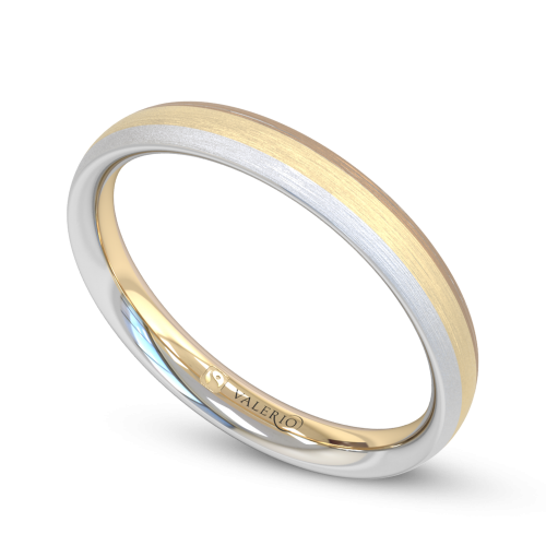 Rainbow Fairtrade Gold Wedding Ring