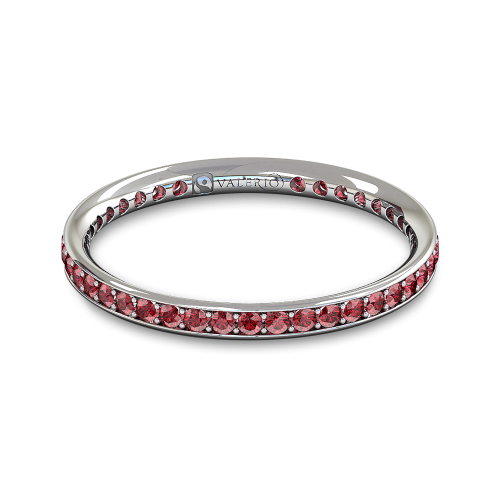Ruby and Fairtrade White Gold Eternity Ring