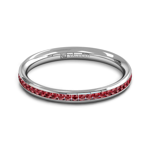 Ruby half Fairtrade Gold Eternity Ring