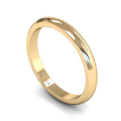 D-Shaped FairTrade Gold Wedding Ring