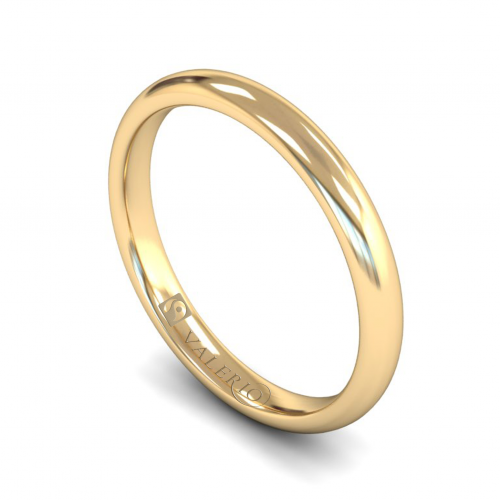 Classic Court 18k Fairtrade Gold Wedding Ring with Flat Edge.